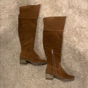 Chestnut Over the Knee Boots